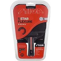 Stiga 5-Star Flexure - Pala de Ping-Pong Unisex, Color Negro/Rojo, Talla única