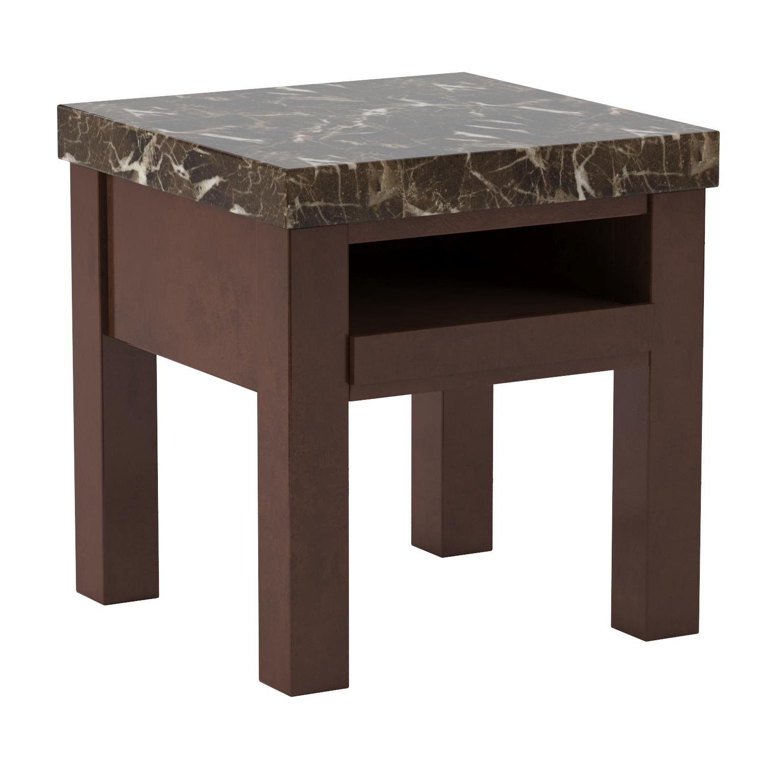 Ashley Furniture Signature Design - Kraleene End Table - Pull Out Tray with USB Ports - Contemporary - Dark Brown by Signature Design by Ashley (Image #6)