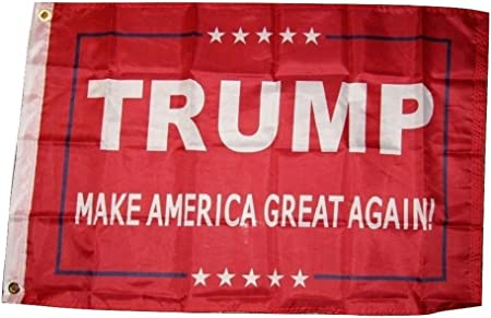 Red 100D Woven Poly Nylon Flag 2/'x3/' Flag 2x3 Trump 2020 Keep America Great