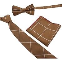 FYios/®Neue gestreift Rosa Schwarz Business M/änner Krawatte Krawatte Hochzeit Geschenk #1002