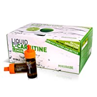 Bodyraise 100% Pure L-Carnitine Ampoules 2000mg - Amino Acid Supplement (Lemon Flavour) for Weight Loss Increase Mental Performance and Energy Ready to Drink 20 x 10 ml Ampoules