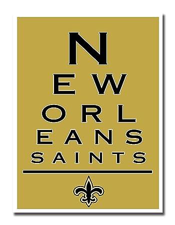 Amazon.com : Atlas New Orleans Saints EYE 12x16 Poster Print Wall ...