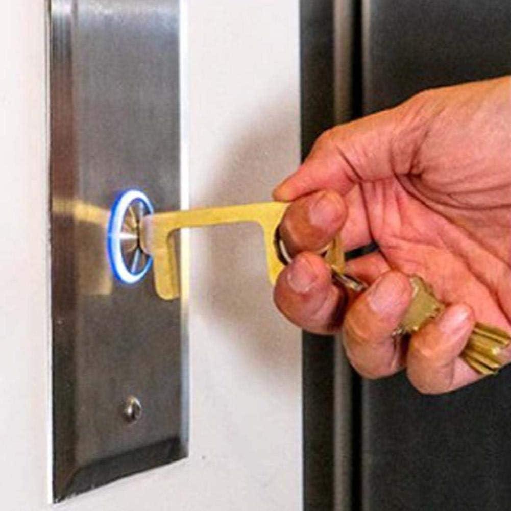 precauti Herramienta de prevenci/ón de Apertura de Puerta sin Contacto Mantenga Las Manos limpias Llaveros Protecci/ón de Seguridad