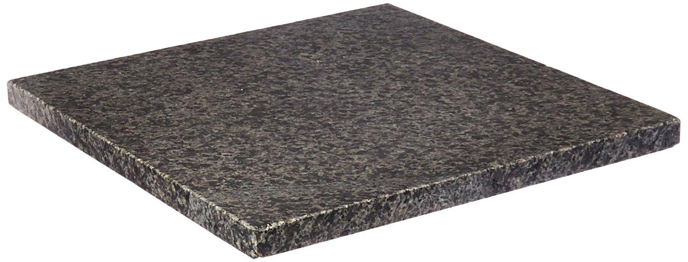 Creative Home 74844 Natural Stone Granite Square Trivet/Cheese Serving Board, 8'', Gray