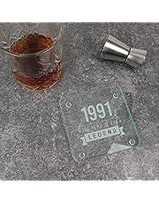 """Gegraveerd""""1991 Jaar van de Legende"""" Design - 30e verjaardagscadeaus voor hem, mannen - dertigste cadeau voor papa, oom, broer"""