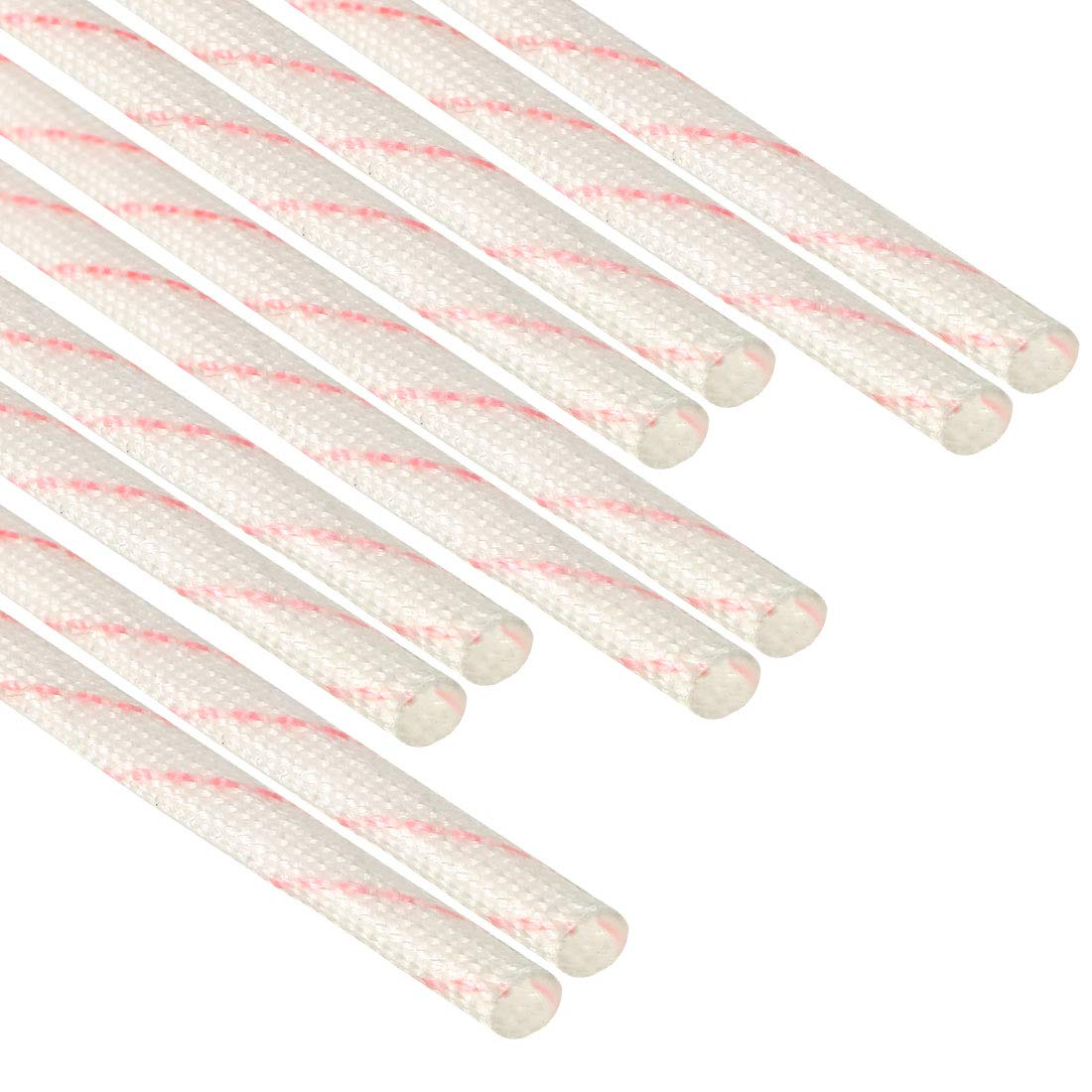 PVC Insulation Tubing 1500V Tube Adjustable Sleeving Pipe 125 Degree Centigrade Cable Wrap Wire 895mm 2.94ft 10pcs uxcell Fiberglass Sleeve 10mm I.D