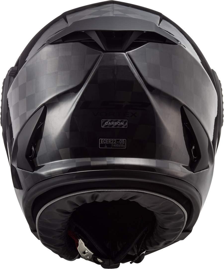 LS2 Motorradhelm FF313 VORTEX CARBON Schwarz M