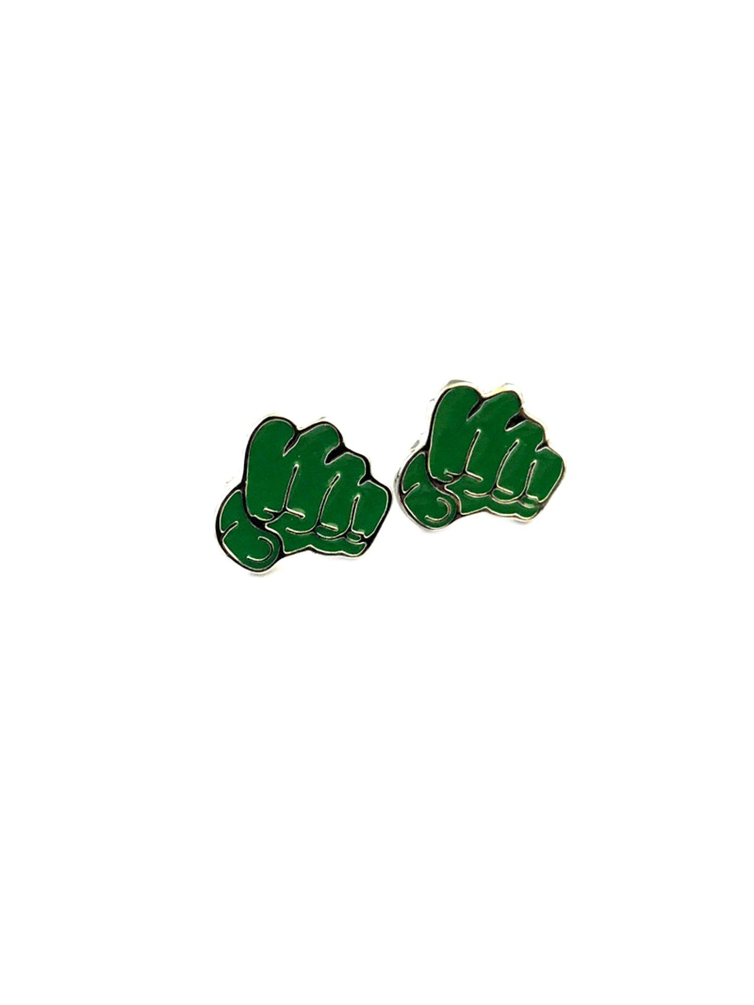 Incredible Hulk Post Stud Earrings Marvel Comics 2018 Movies Avengers Infinity War Cartoon Superhero Logo Theme Premium Quality Detailed Cosplay Jewelry Gift Series