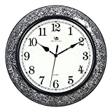 Jedfild Modern living room wall clock stylish and creative personality trend of minimalist black and white mosaic Clocks