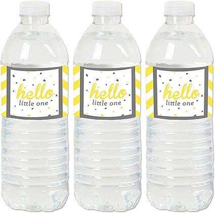 Baby Shower Decoration Gender Neutral Confetti Yellow Gray Baby Bottle Confetti