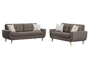 Amazon.com: Dimsdale Mid Century - Sofá y asiento de amor (2 ...