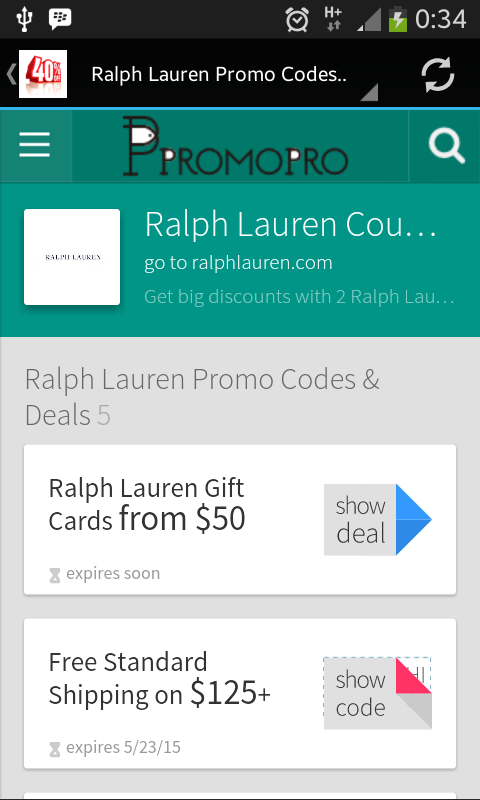 allyoucansearch ralph lauren coupon. Black Bedroom Furniture Sets. Home Design Ideas