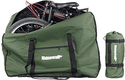 Selighting Bolsa Transporte Bicicleta Plegable, Bolsa de Almacenamiento de Bici Bolsa para el Manillar Bolso Plegable para el Envío de Viajes Aéreos, 20 Inch (Verde): Amazon.es: Deportes y aire libre