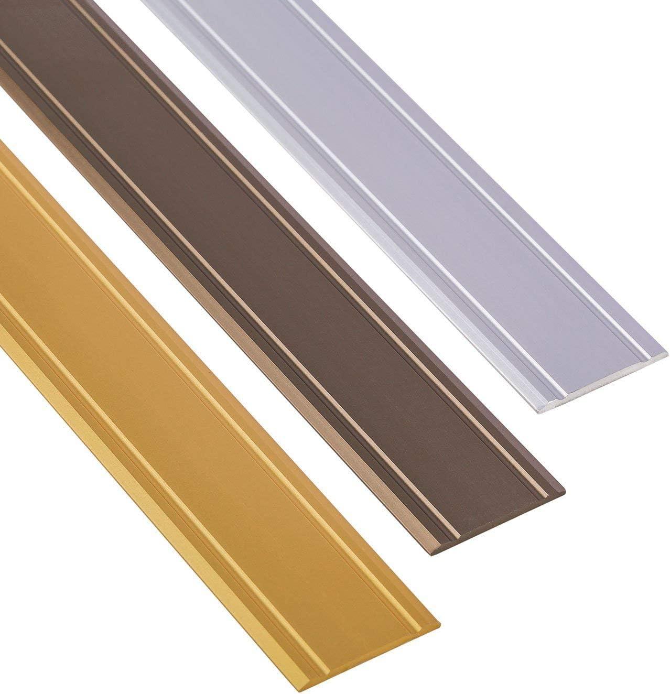 Fliesen   1 St/ück Gedotec /Übergangsprofil selbstklebend SUPERFLACH Silber eloxiert /Übergangsschiene Boden-Profil Laminat Breite 30 mm L/änge 100 cm Parkett UVM Ausgleichsprofil Aluminium