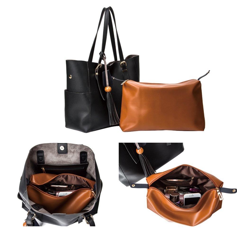 c71e77e8a260 Amazon.com  Yitrust Fashion Purse Women s Tassel buckets Soft Leather Totes  Hobos Handbag Shoulder Bags Crossbody Bag (Blue)  Shoes
