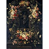 Canvas Prints Of Oil Painting 'Thielen Jan Philip Van San Felipe En Hornacina Rodeada De Flores 1651' 18 x 24 inch / 46 x 62 cm , Polyster Canvas Is For Gifts And Bar, Bed Room And Home Off decoration