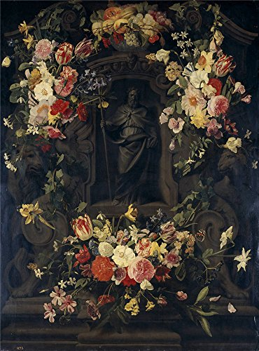 [The Perfect Effect Canvas Of Oil Painting 'Thielen Jan Philip Van San Felipe En Hornacina Rodeada De Flores 1651 ' ,size: 30 X 41 Inch / 76 X 103 Cm ,this Amazing Art Decorative Prints On Canvas Is Fit For Living Room Decor And Home Decor And] (Diy Snow Globe Costume)