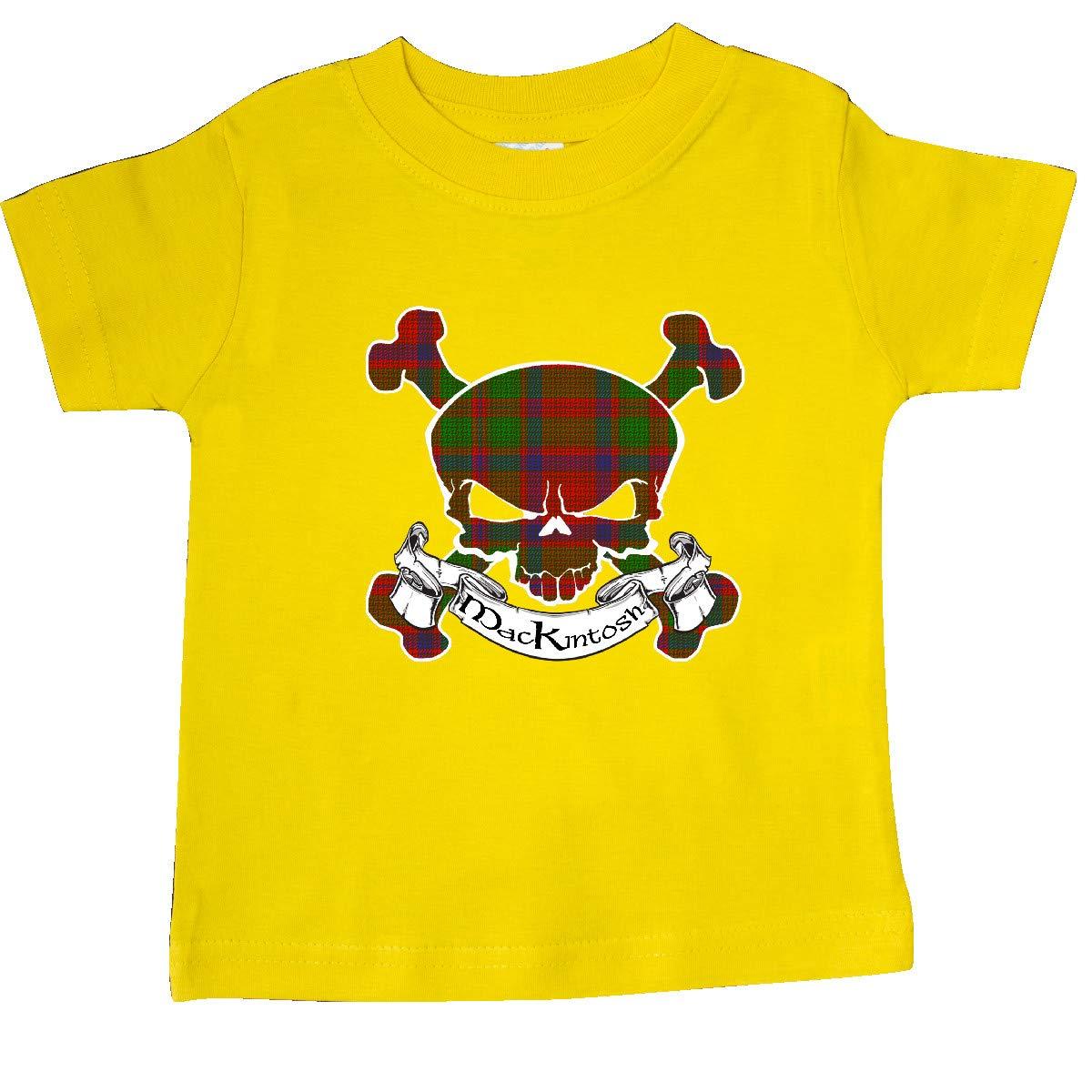 inktastic Mackintosh Tartan Skull Baby T-Shirt
