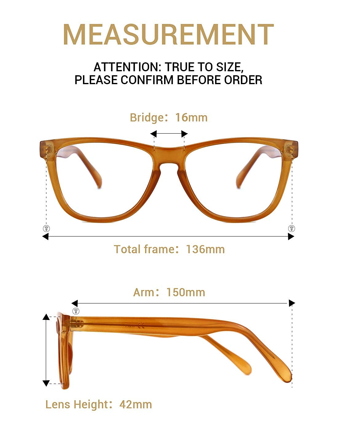 TIJN Chic Retro Eyeglasses for Men Women Oversize Optical Designer Frame