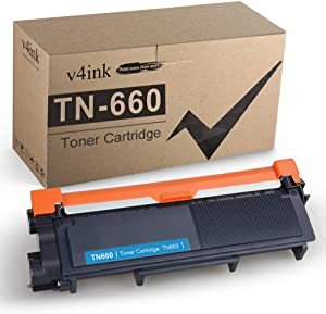 V4INK Black 1-Pack Compatible Toner Cartridge Replacement for Brother TN660 TN-660 TN630 TN-630 for use in HL-L2340DW HL-L2300D HL-L2380DW MFC-L2700DW L2740DW DCP-L2540DW L2520DW HL-L2320D MFC-L2720