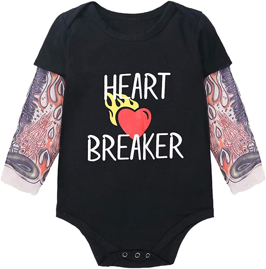 Hstore Baby Boys Girls Infant Clothes Set Print Romper Pants Valentines Day Outfits