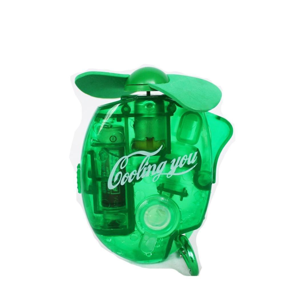 NINGSUN_Casa Ningsun Spruzzo d'acqua Mini ventilatore,Mini portatile Pocket Fan Aria fredda Tenuto in mano Batteria Viaggiatore Scrivania più fredda canottaggio, Viaggi, picnic (1PC, Rosso)