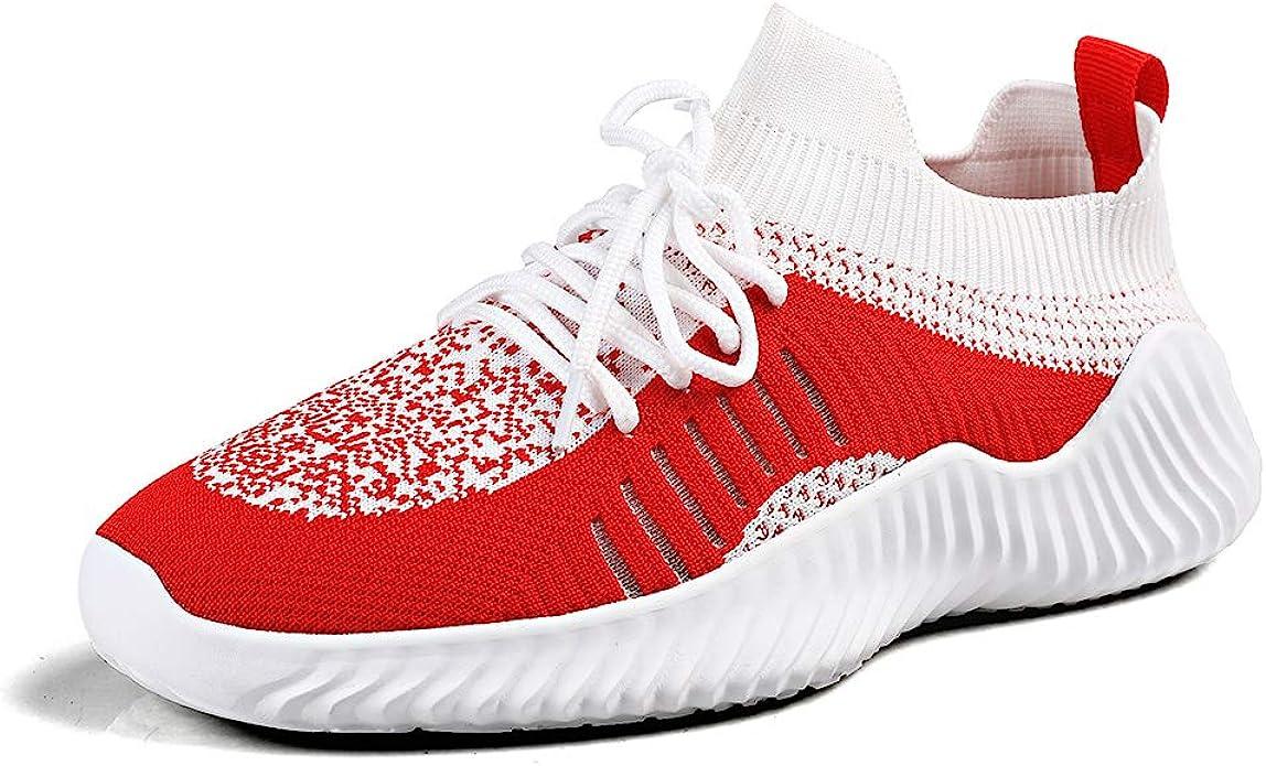 Zapatillas Running Hombre Ligeras Deportivas Sneakers Trail Fitness Zapatos Crossfit Tenis Casual Correr Comodas Antideslizante Rojo-1 44 EU: Amazon.es: Zapatos y complementos