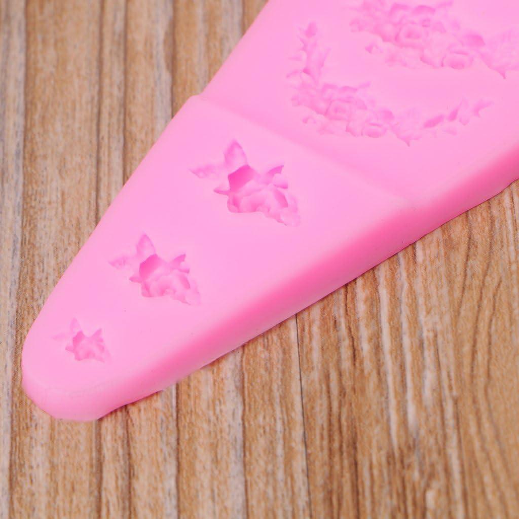 dise/ño de hojas de flores Molde de silicona para decoraci/ón de tartas Museourstyty