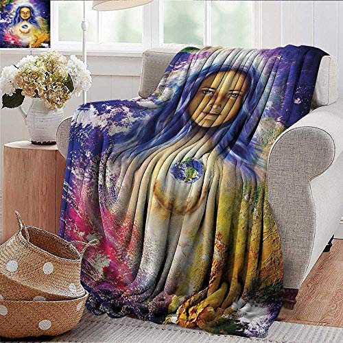 Xaviera Doherty Blankets Fleece Blanket Throw Mystic,Mysterious Girl Hand Earth Super Soft and Warm,Durable Throw Blanket ()