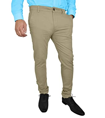 5df8545a47b2 westAce Mens Stretch Skinny Slim Fit Chino Pants Flat Front Casual Super  Spandex Trousers (30W