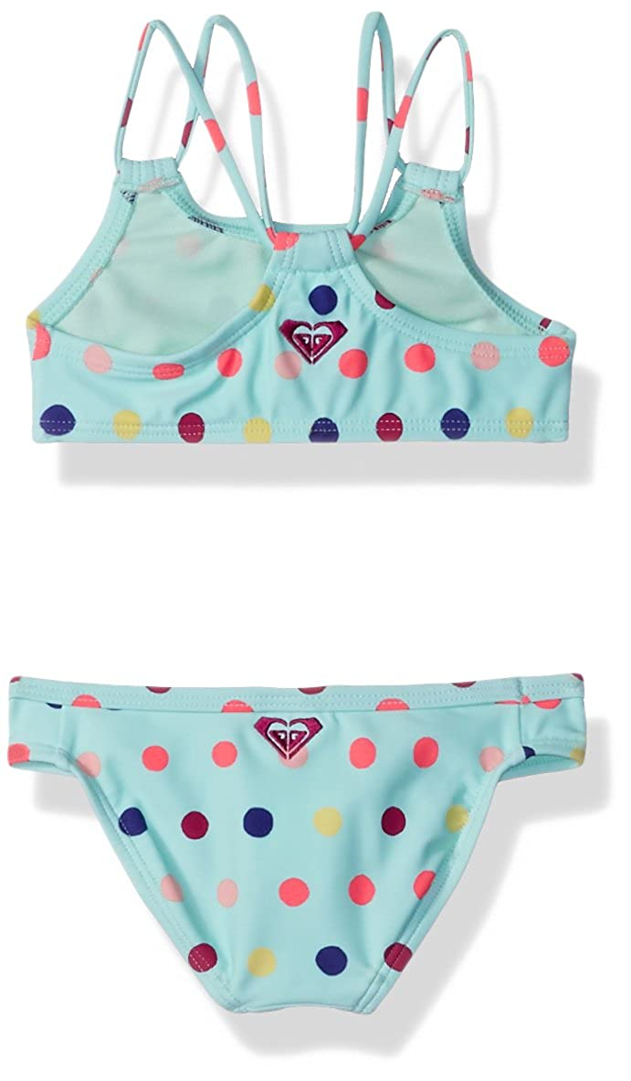 Roxy Little Girls Rainbow Dots Athletic Set Two Piece Swimsuit