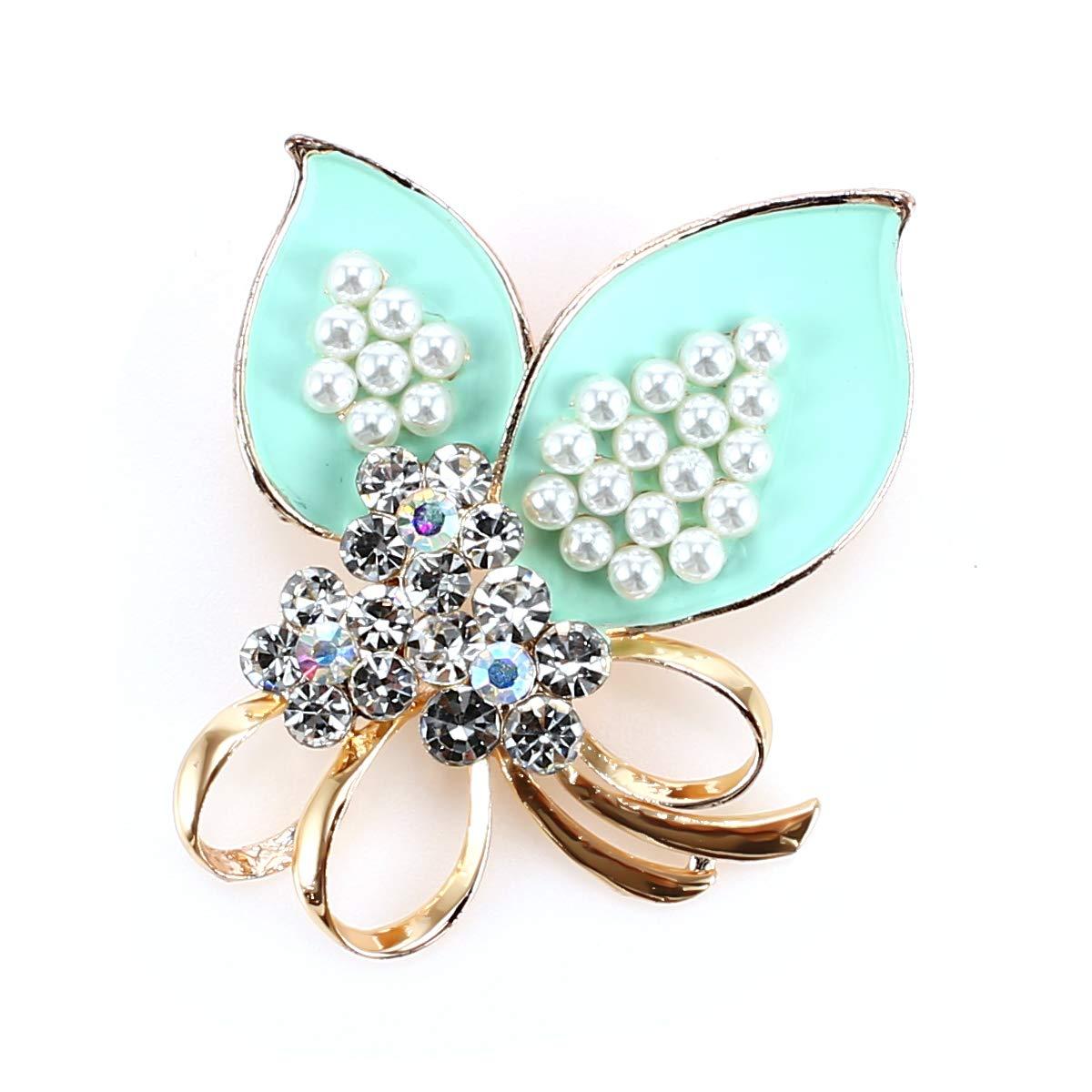 Araign/ée Lvtree Broches Femmes Multicolores Strass Bijoux /Él/égant Cristal Perle Broche pour Bouquet de Mariage//Noel//Quotidien//Anniversaire