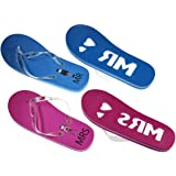 e92167d2b Just Married Tux   Wedding Dress Design His   Hers Twin Flip Flop ...