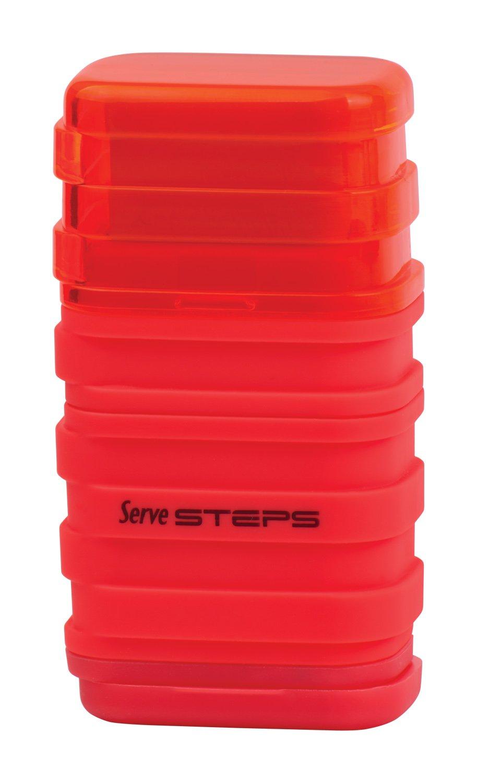 Serve SV Step S9KT Steps Eraser and Sharpner One Body Paper Box, Pack of 9-Fluorescent Colors by Serve (Image #5)