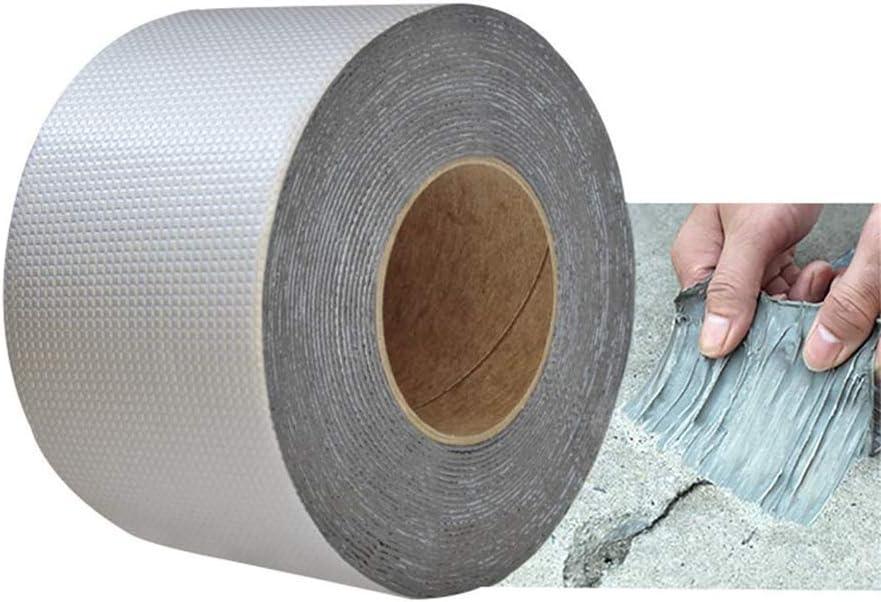 Cinta de sellado de aluminio de caucho but/ílico para reparar varias grietas Nueva cinta de butilo resistente al agua de alta calidad para reparar fugas en techos tuber/ías 8cm x 10m etc