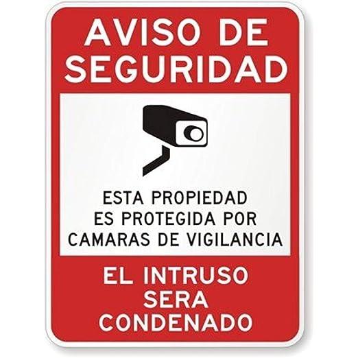 A Homim Aviso de Seguridad, Esta Propiedad ES Cartel de ...