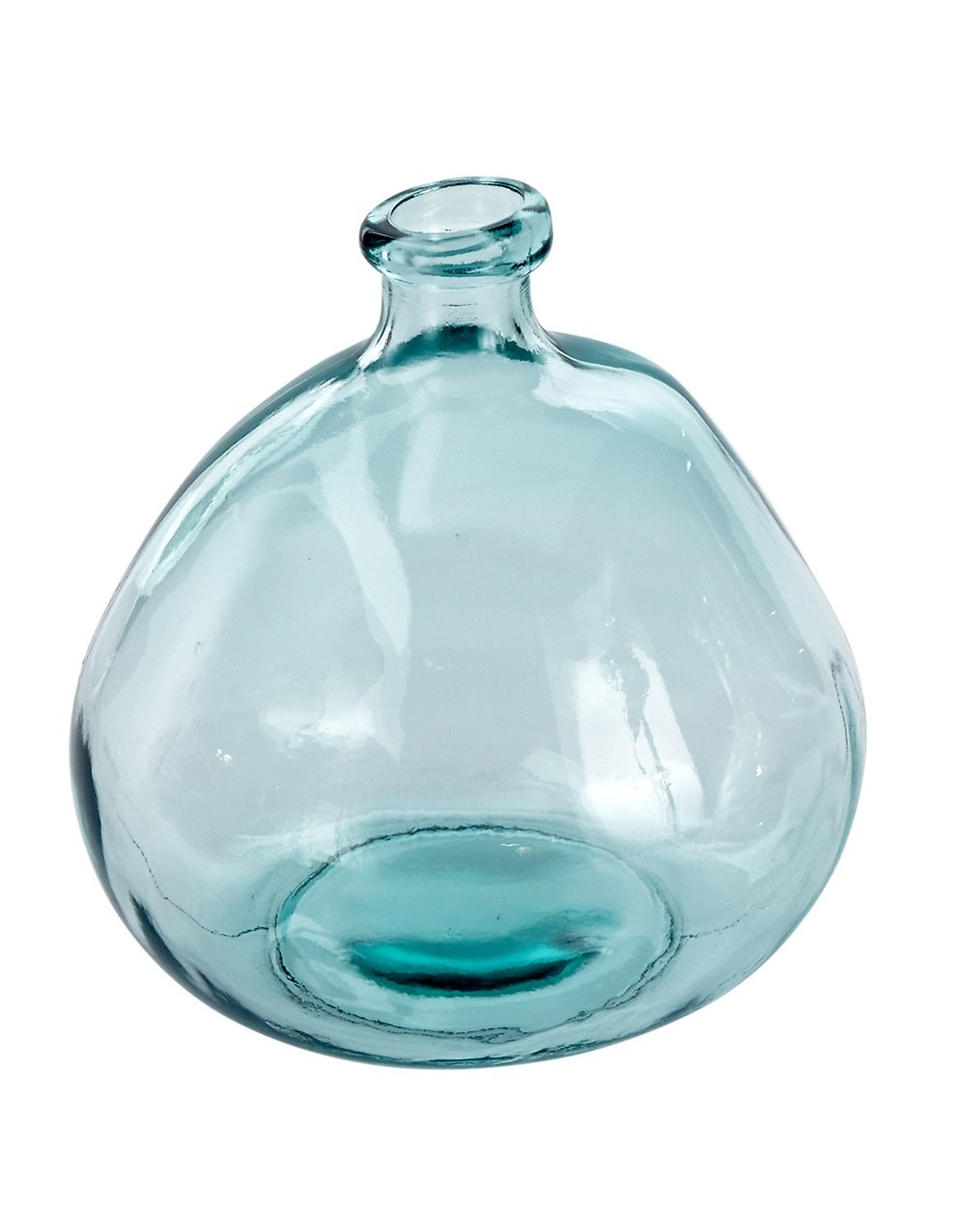 Mud Pie 4735006L Nest Large Recycled Spanish Glass Bubble Shape Vase 9''