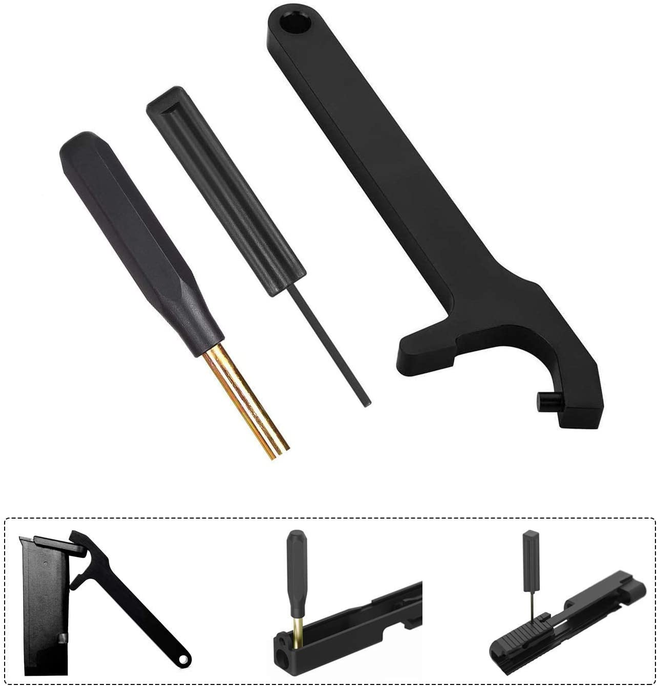 Glock Tool Kit,Front Sight Tool Magazine Disassembly Tool Mag Plate Removal Tool