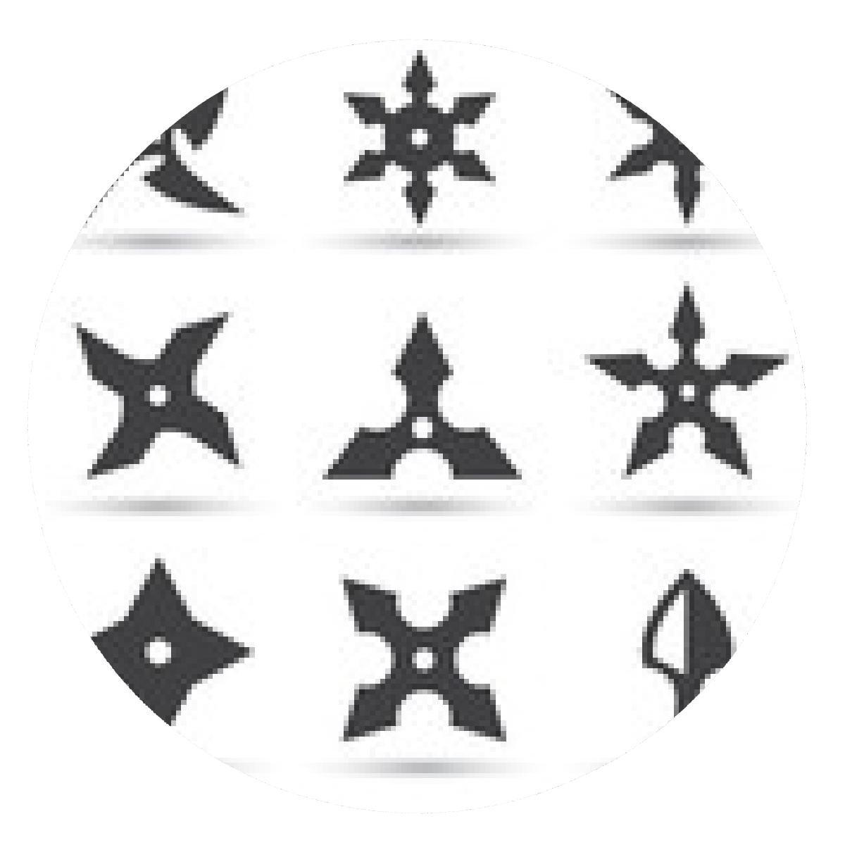 alfombrilla de ratón Ninja icono de la estrella - ronda ...