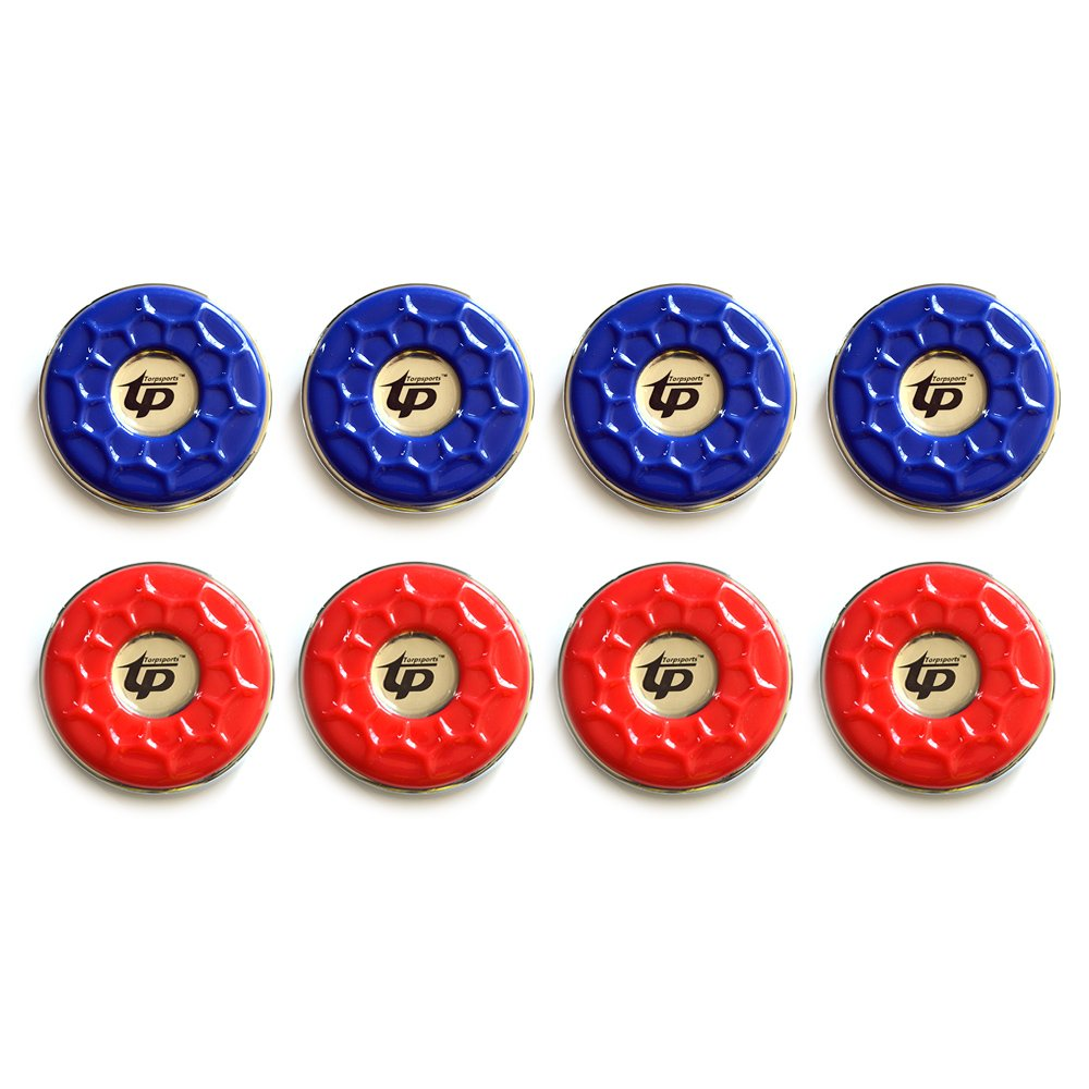 TORPSPORTS(Dia.58mm) 2-1/4'' Shuffleboard Pucks, Set of 8 Blue/Red