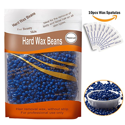 Auperwel Hard Wax Beans Hard Body Wax Beans, Hair Removal Brazilian Pearl Depilatory Wax European Beads for Women Men 300g/10oz