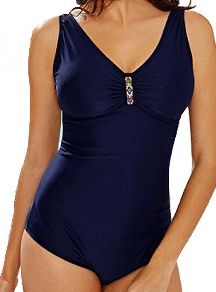 Maillot de Bain Femme 1 Pi/èce Monokini Grande Taille Taille Un Peu Petit