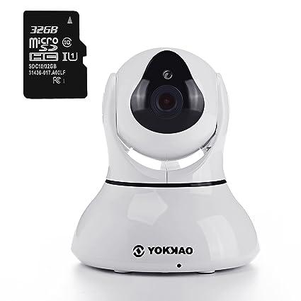 Videocámara de Vigilancia inalámbrica YOKKAO, Cámara IP de seguridad WIFI 720p HD 5x Zoom Digital