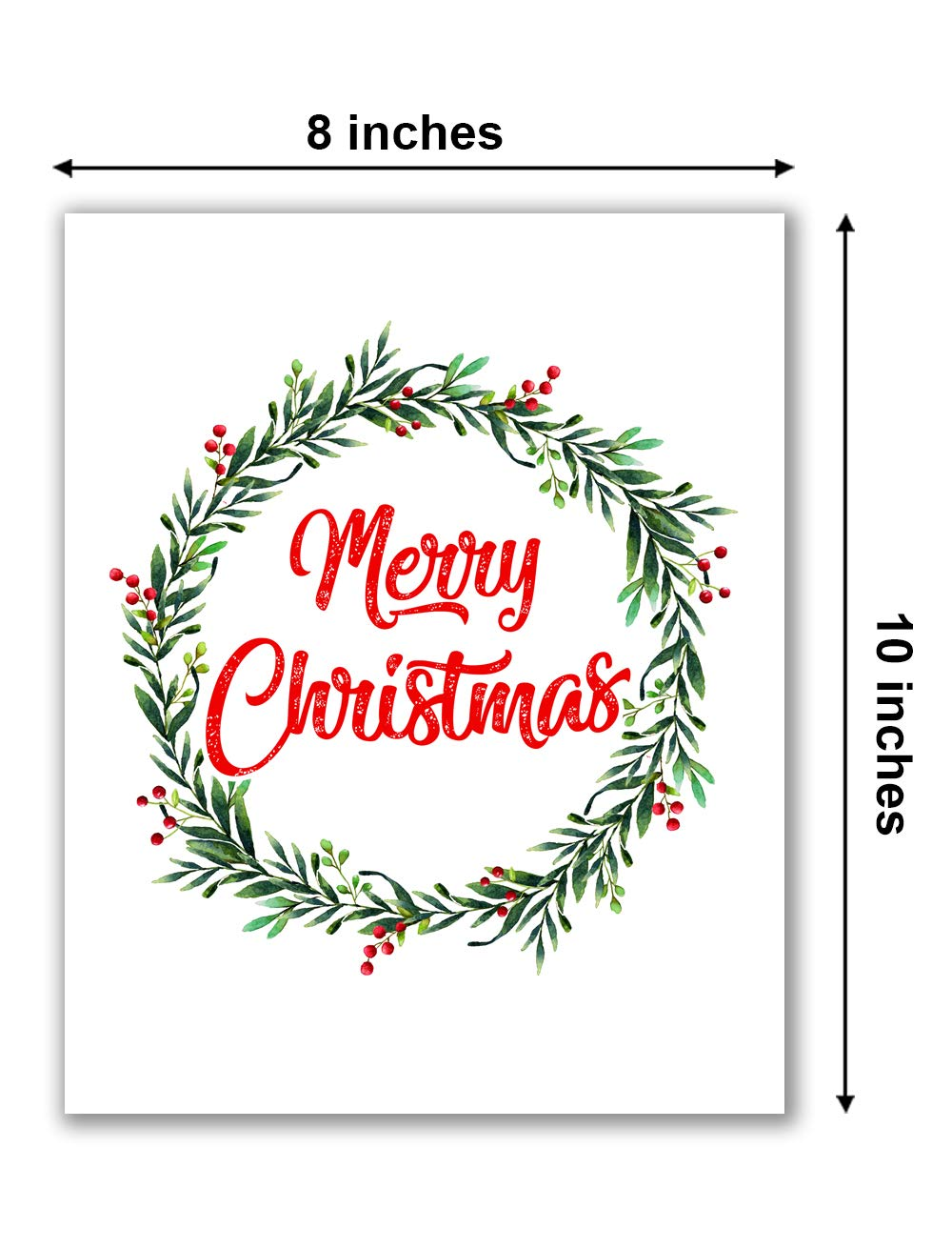 - Amazon.com: Merry Christmas Print - 8
