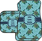 RNK Shops Sea Turtles Car Floor Mats Set - 2 Front & 2 Back (Personalized)
