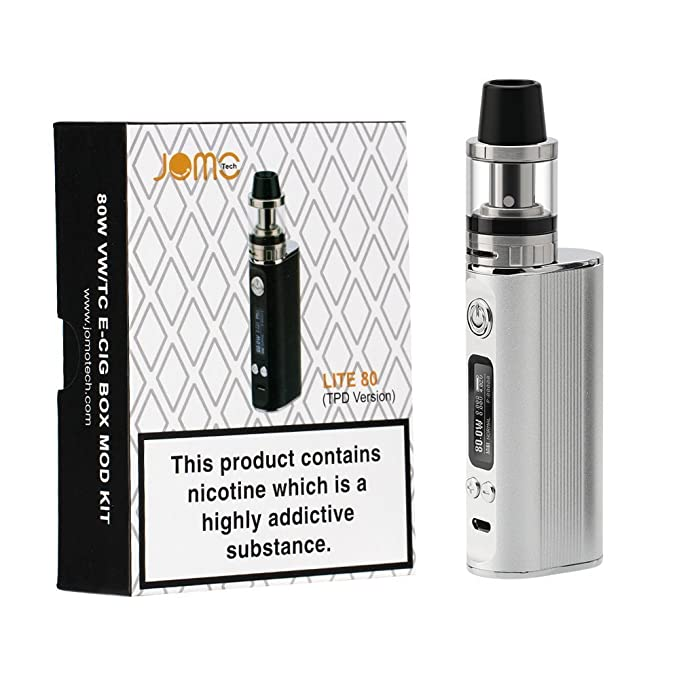 Vape 80W E-Cigarrillo Kit , JOMO TECH Lite 80 Cigarrillo Electrónico OLED Potencia Ajustable Control de Temperatura 2600mAh Batería 0.4 oHm+2 mL Atomizer, ...