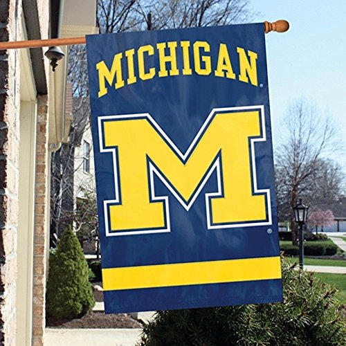 n Wolverines Banner College Flag (Michigan Wolverines Ncaa Applique)