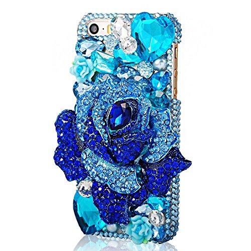 EVTECH(TM) Coque 3D Bling Strass Case Transparent Back Cover Cristal Etui Housse Hard Coque pour iPhone 5/5s