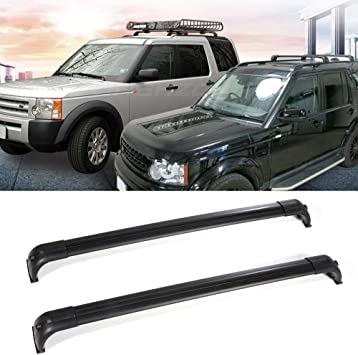 ROADFAR Roof Rack Side Rails Aluminum Top Side Rail Carries Luggage Carrier Fit for 2005-2009 Land Rover LR3 Sport Utility,2010-2016 Land Rover LR4 Sport Utility Baggage Roof Side Rail