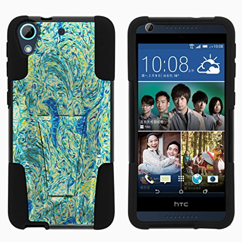 HTC Desire 626 Case   HTC Desire 626s Case   HTC Desire 650 Case [Gel Max Cover] Dual Layer Hybrid Case Design Hard Shell with Kickstand by TurtleArmor - Starry Swirl (Phone Mobile Boost Cases Htc For)